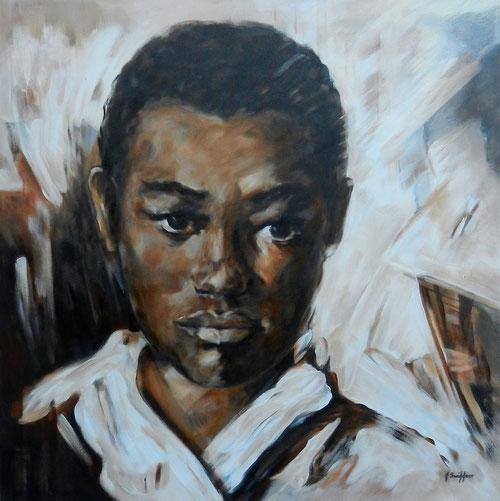 Ayikoo Westrica - Olieverf op doek  80 x 80 cm