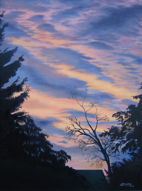 Zonsopgang 1  -  Olieverf  60 x 80 cm