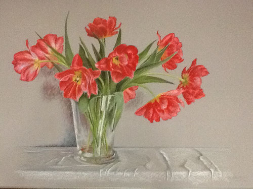 Tulpen  -  Pastel  60 x 80 cm