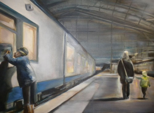 Without a ticket  50 x 100 cm