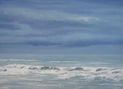 Noordzee  - Olieverf   60 x 90 cm