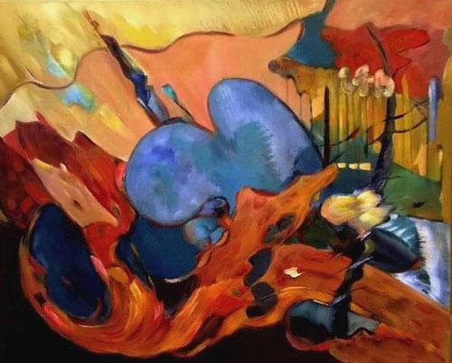 Life on Mars / Surreëel geschilderd op gevoel / 30 september 2015
