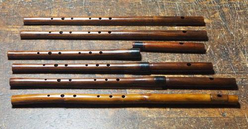 オリジナル横笛LowD管、C管(木製及び真竹製)製作中 ~仕上げ拭き漆塗り最終完了~