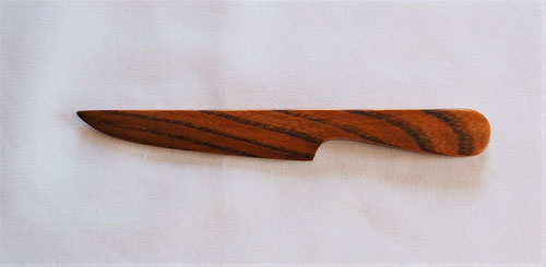 欅のペーパーナイフ 洋刀デザイン