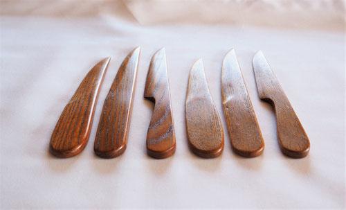 木のペーパーナイフ 6種 2樹種3デザイン