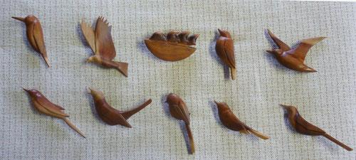 ナツメ材鳥10種