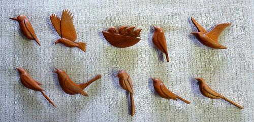 サクラ材鳥10種