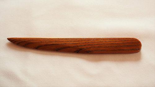 欅のペーパーナイフ 拭き漆仕上 和刀Aデザイン