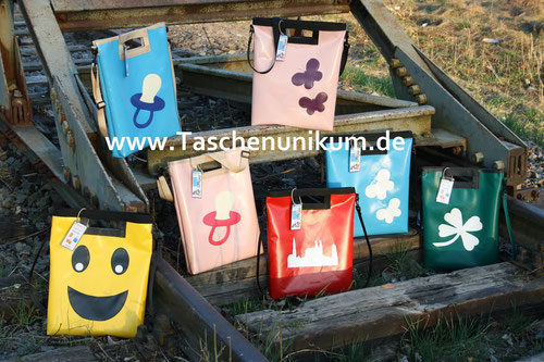Taschen aus LKW Planen von Christian Anthuber