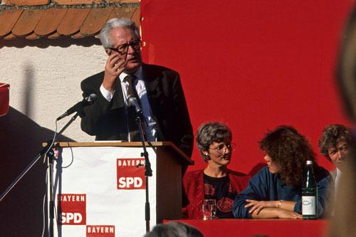 Hans-Jochen Vogel in Landsberg am 09.10.1990