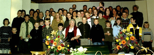Einige Nachkommen von Friedrich Winkler und Josefine Doll beim 90. Geburtstag von Klara Gold, geb. Winkler am 13. März 2003