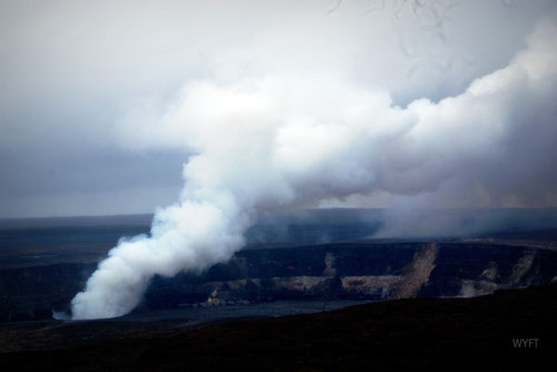 © Winifred. Hawai'i Volcanoes National Park. Kilauea volcano is one of the world's most active volcanoes. A pity that we were there on a gloomy day. Still it left a deep impression. March 2009