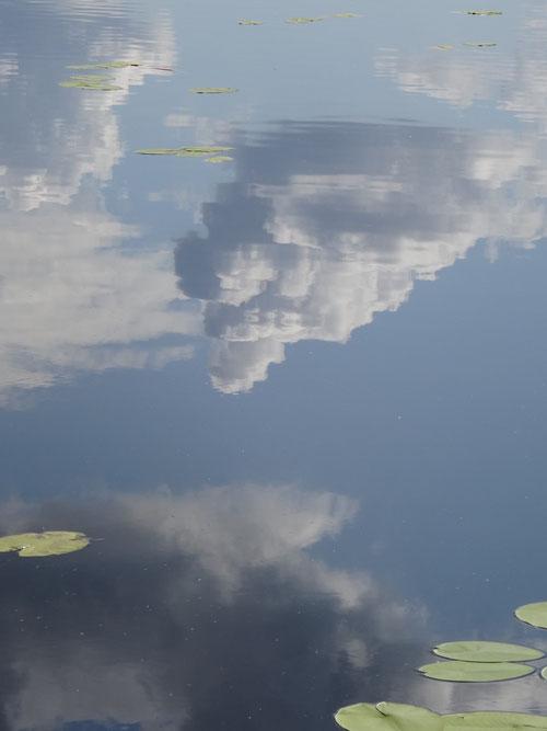 Опрокинутое небо, озеро Оленье, Мещера, Творческая лаборатория НБ