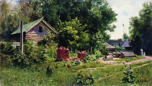 Русский художник Василий Поленов. Дворик