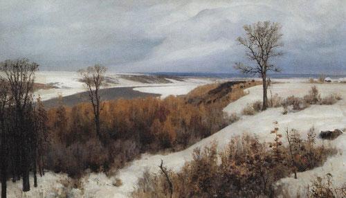 Русский художник Василий Поленов. Ранний снег