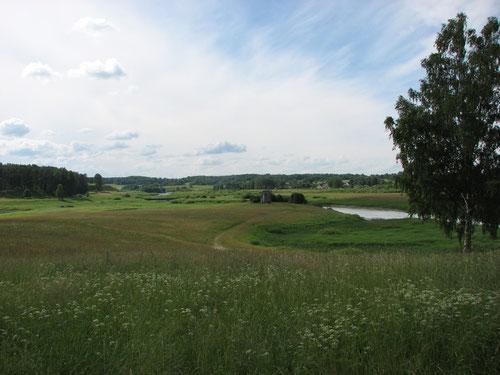 река Сороть. Вид с Михайловского