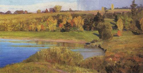 Русский художник Василий Поленов. Ока близ Тарусы