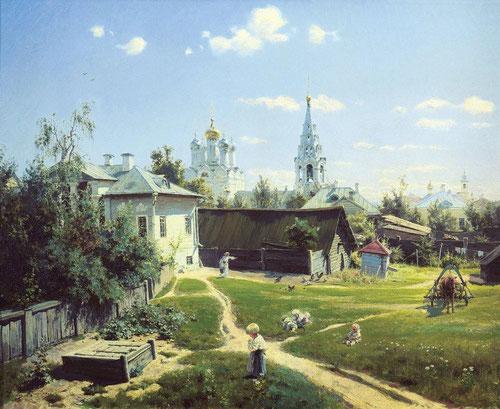 Русский художник Василий Поленов. Московский дворик