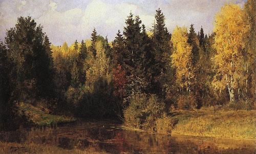 Русский художник Василий Поленов. Осень в Абрамцево