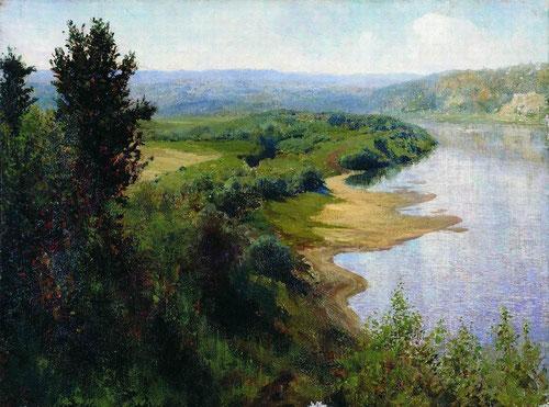 Русский художник Василий Поленов. Река