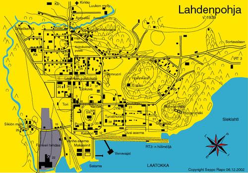 Застройка города Лахденпохья в 1939 году