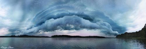 Небо над Ладогой. Фото Дарьи Штерн