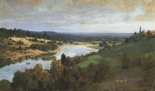 Русский художник Василий Поленов. Река Ока