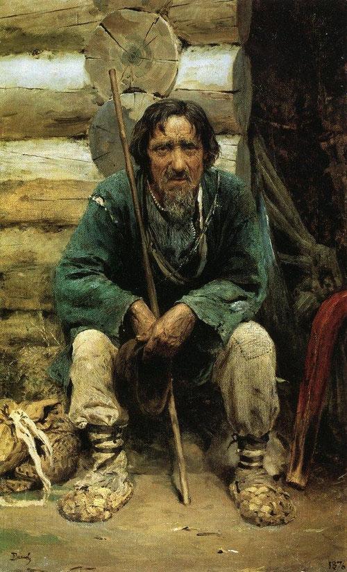 Русский художник Василий Поленов. Сказитель былин Никита Богданов
