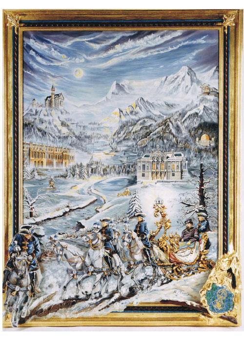 Ölgemälde König Ludwig II von Bayern
