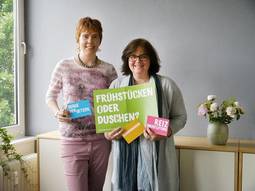 v.l. Nicole Krüger LVS & Silke Rothenburger von der Werbeagentur grüner Bereich GmbH