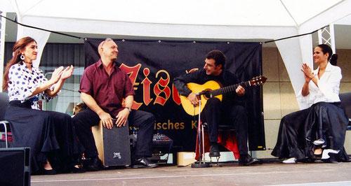 Rosa Gonzales, Jürgen Schuld, Klaus Mäurer, Ana Alarcon (Deichstadtfest, Neuwied 2002)