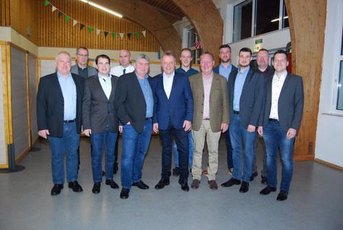 Ausschussmitglieder und König HW Siedhoff (19/20)