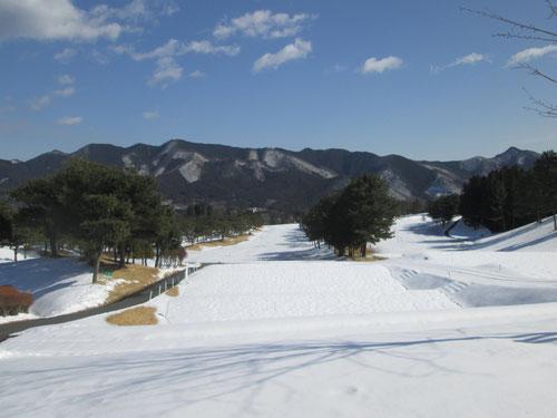 足利カントリークラブの雪景色