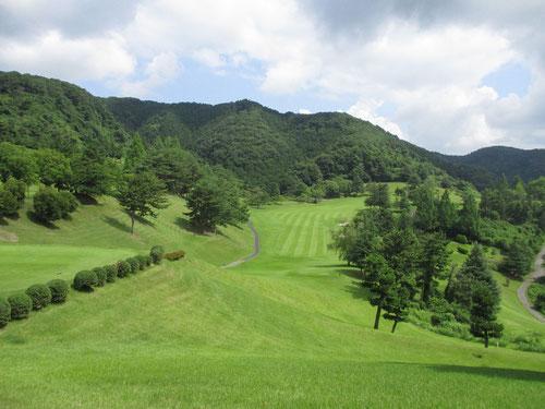足利城ゴルフ倶楽部の夏のコース画像