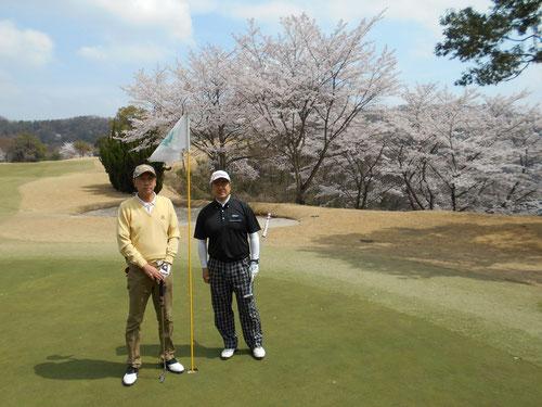 足利城ゴルフ倶楽部お花見ゴルフ2016