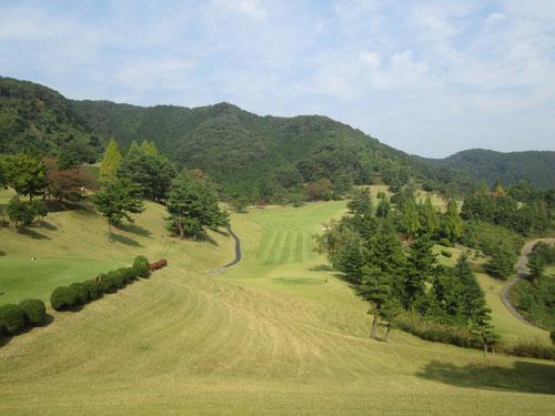 足利城ゴルフ倶楽部9番ホール画像
