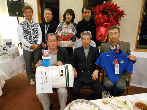 足利城ゴルフ倶楽部でお客様と楽しいコンペに参加してます!!