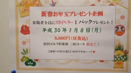 唐沢ゴルフ倶楽部三好コーススカイベリーイチゴプレゼント企画
