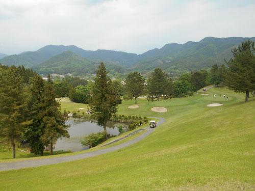 足利カントリークラブ飛駒コースの長閑な景色