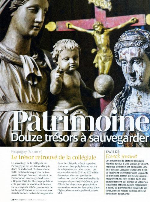 """Le projet de restauration a  été lauréat du concours """"un patrimoine pour demain"""" organisé par le Pélerin."""