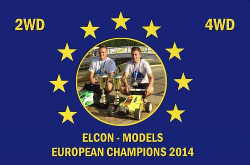 2WD Europameister VAN DER ELST Tim NL, 4 WD Europameister SCHWEINZER Patrick AT