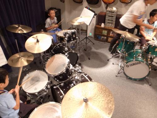 ドラムレッスンの様子