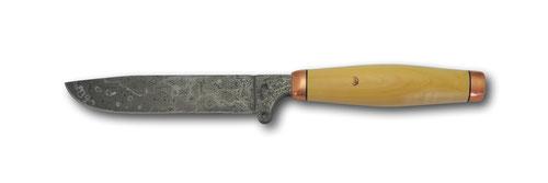 Trachtenmesser mit massiver Kupferzwinge und Buchsbaumholz