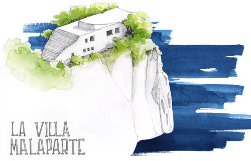 VILLA MALAPARTE ARCHITECTURE ILLUSTRATION JDAN MARCELLOOO.FR BLOG VOYAGE