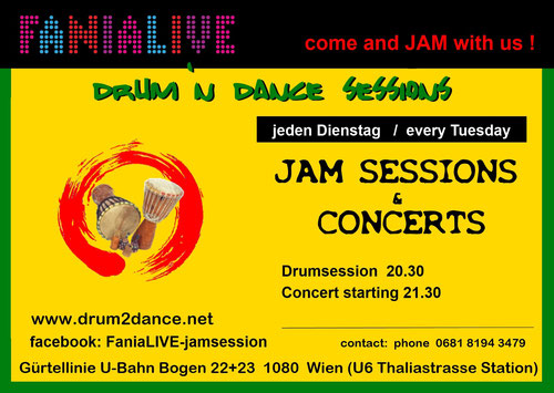JAMSESSION every tuesday 21 h - FANIALIVE 1080 Wien