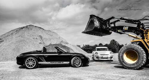 Porsche Shoot - black & white