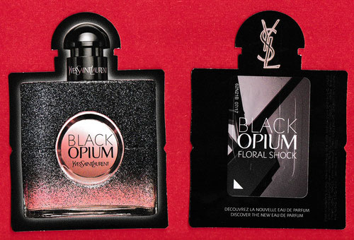 YSL - BLACK OPIUM : CARTE REPLIQUE AVEC PATCH POUR FLORAL SHOCK