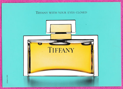 TIFFANY - CARTE AVEC 4 PATCHS AU VERSO : RECTO