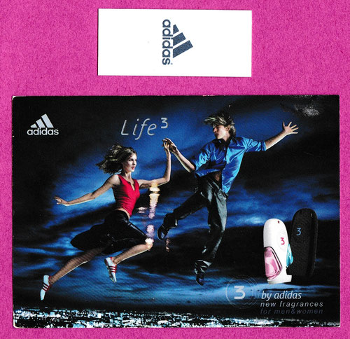ADIDAS - LOT DE 2 CARTES : RECTO