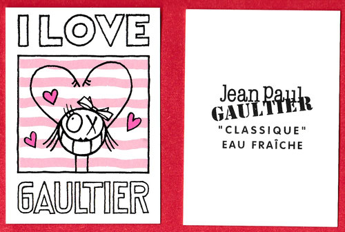 2018 - I LOVE GAULTIER : CARTE ROSE ET BLANCHE